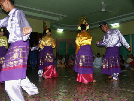 One of many traditional dances revived by village elders and handed down to village youth